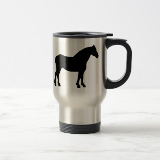 Caballo de proyecto negro tazas de café
