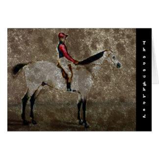 Caballo de raza excelente del vintage tarjetón