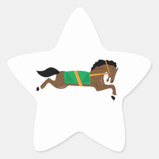 Caballo de raza calcomanias forma de estrella