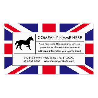 caballo de Reino Unido Tarjetas De Visita
