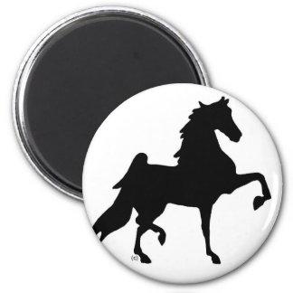 Caballo de Saddlebred del americano Imán Redondo 5 Cm