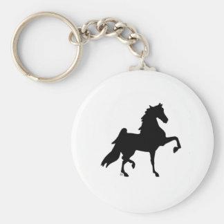 Caballo de Saddlebred del americano Llavero Redondo Tipo Pin
