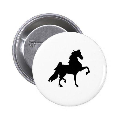 Caballo de Saddlebred del americano Pin Redondo De 2 Pulgadas