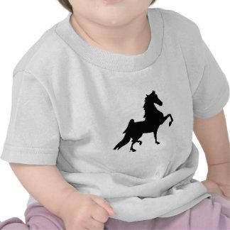 Caballo de Saddlebred del americano Camisetas