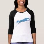 Caballo de salto azul camiseta