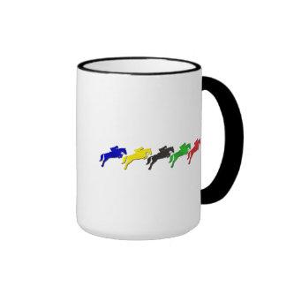 Caballo de salto ecuestre del dressage y de la dem taza a dos colores