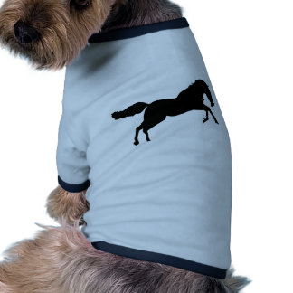 Caballo de salto camiseta con mangas para perro