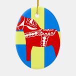 Caballo de Suecia Dala Ornamentos De Reyes Magos