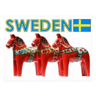 Caballo de Suecia Dala Tarjeta Postal