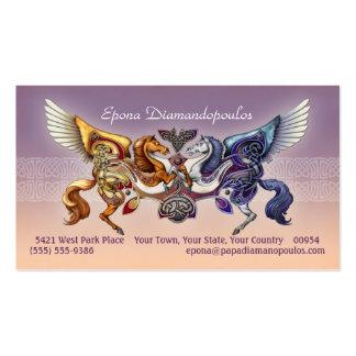 Caballo de Sun, tarjetas de visita del caballo de