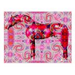 caballo de un diverso color postal