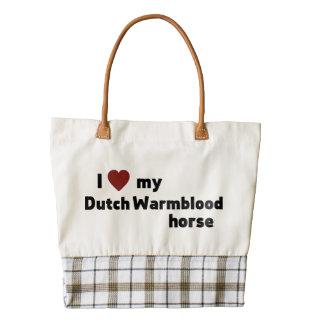 Caballo de Warmblood del holandés Bolsa Tote Zazzle HEART