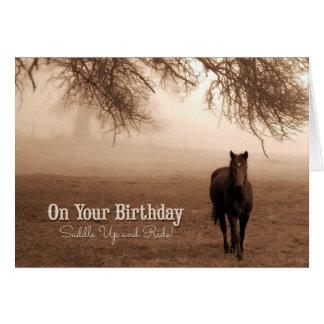 Caballo del amante el | del caballo del cumpleaños tarjeta de felicitación