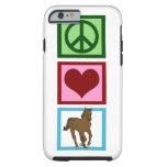 Caballo del amor de la paz funda de iPhone 6 tough