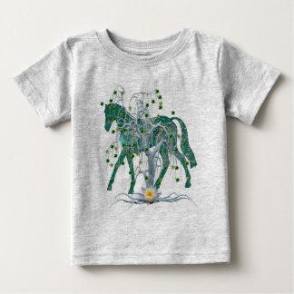 Caballo del Año Nuevo del bosque del invierno Tshirts