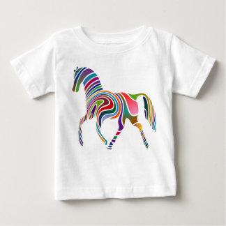 Caballo del arco iris playera de bebé