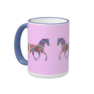 Caballo del arco iris taza de dos colores