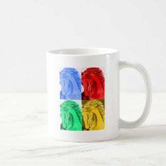 Caballo del arte pop taza