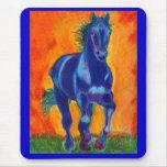 Caballo del azul de Brillian Tapete De Ratones
