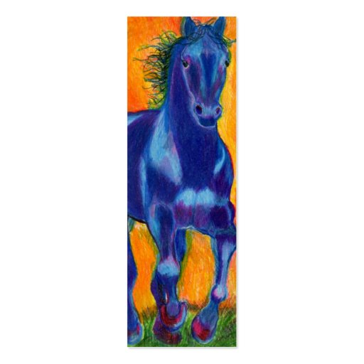 Caballo del azul de Brillian Tarjeta De Visita