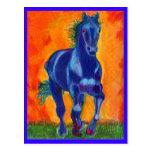 Caballo del azul de Brillian Tarjetas Postales