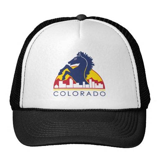 Caballo del azul de Colorado Gorro De Camionero