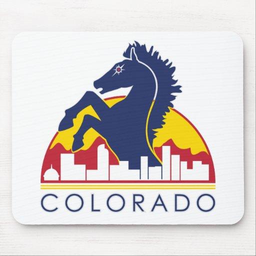 Caballo del azul de Colorado Alfombrilla De Ratones