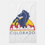 Caballo del azul de Colorado Toallas De Cocina