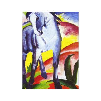 Caballo del azul de Franz Marc Lienzo Envuelto Para Galerías