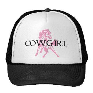 Caballo del Bronc de la vaquera versión rosada de Gorros