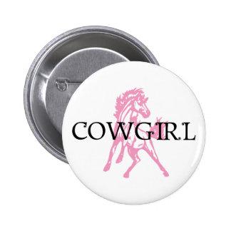 Caballo del Bronc de la vaquera (versión rosada de Pins