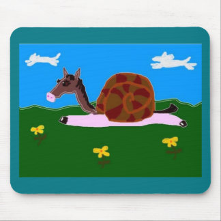 Caballo del caracol de Penélope Mousepads