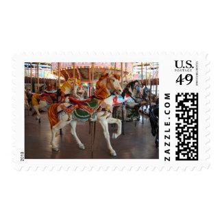 Caballo del carrusel, 2 timbre postal
