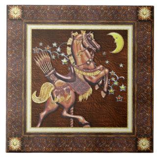 Caballo del carrusel - baldosa cerámica de las noc azulejos ceramicos