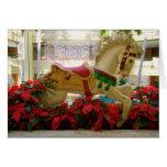 Caballo del carrusel del navidad - 1 tarjetón