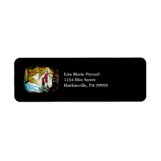 Caballo del carrusel etiquetas de remite