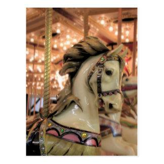 caballo del carrusel tarjeta postal
