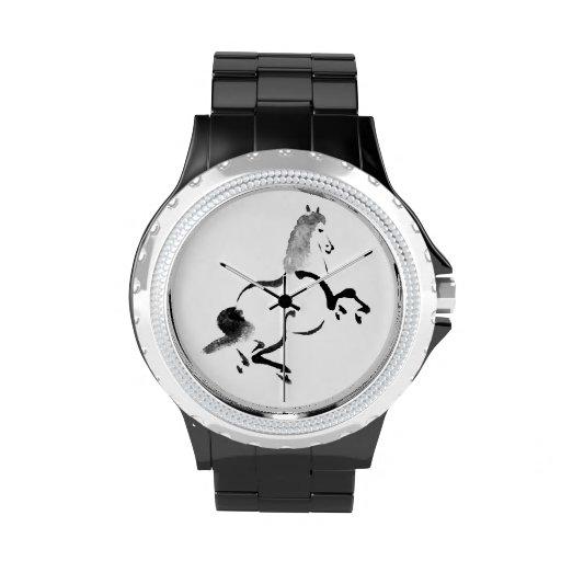 Caballo del chino del vintage relojes de pulsera