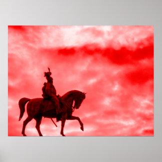Caballo del cielo de Red Storm y poster de la impr