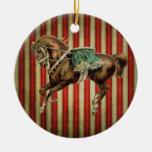 caballo del circo del vintage adornos