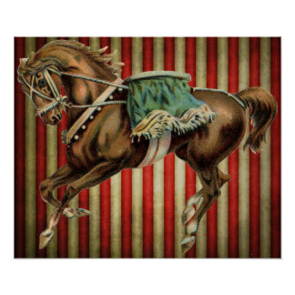 caballo del circo del vintage póster