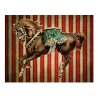 caballo del circo del vintage postal