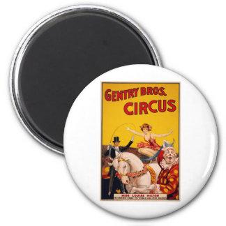 Caballo del circo imán redondo 5 cm