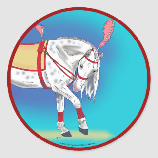 Caballo del circo pegatina redonda