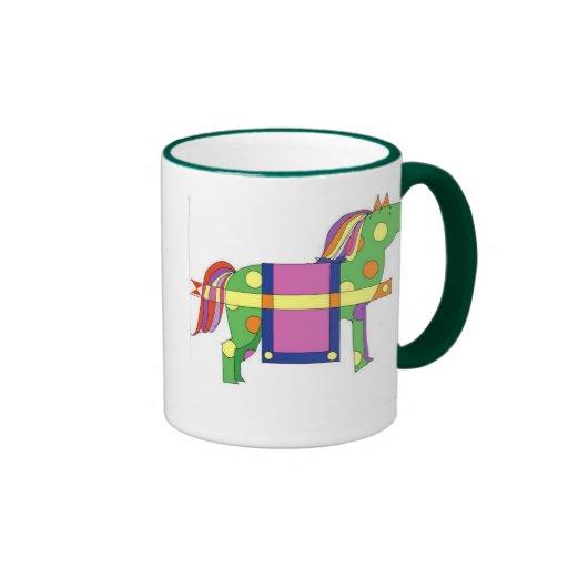 caballo del circo taza de café