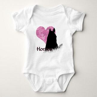 Caballo del corazón I (camo rosado) Body Para Bebé