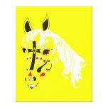 caballo del cráneo del azúcar lienzo envuelto para galerías