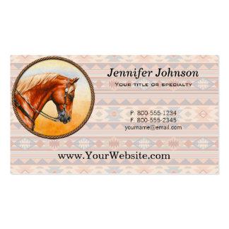 Caballo del cuarto del diseño del sudoeste tarjetas de visita