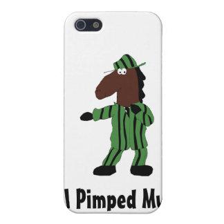 Caballo del dibujo animado en juego verde iPhone 5 carcasa