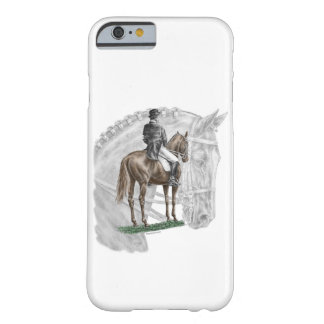 Caballo del Dressage del saludo del X-Alto Funda De iPhone 6 Barely There